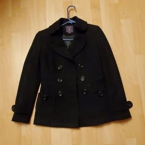 Women's black forever 21 peacoat size Small